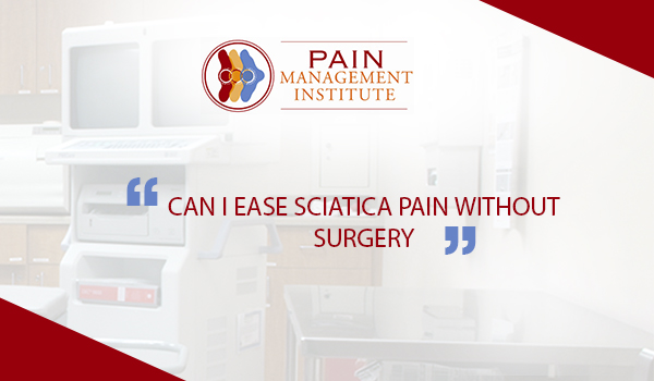 Can I ease sciatica-pain-surgery
